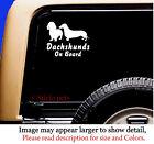 Dachshund On Board Original Design Dog Vinyl Car Decal Sticker Pet RV
