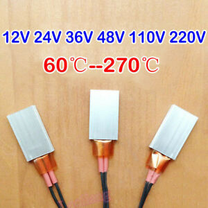 PTC Heater Plate 12V~220V Constant Temperature Element Thermostat Heating Tablet