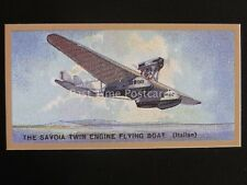 No.36 The SAVOIA TWIN ENGINE FLYING BOAT - Aeroplanes REPRO of Thomas Bear 1926