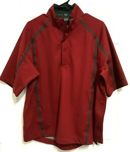 NIKE GOLF Fit Storm Men Burgundy 1/4 Zip Pullover Golfing Jacket Windbreaker M