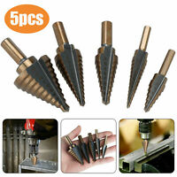 5Pcs HSS Cobalt Hole Large Metal Step Drill Bit Set Titanium Cutter Cone 50 Size