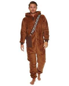 Star Wars Chewbacca 'Chewie' Fleece Zip Hooded Jumpsuit All in One 1Onesie