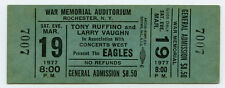 The Eagles Jimmy Buffett Original Unused 1977 Complete Concert Ticket