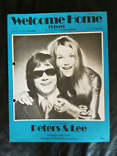 Peters & Lee - 'Welcome Home' - 1970's Vintage Sheet Music Score!