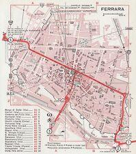 C2671 Pianta della Città di Ferrara - Mappa geografica d'epoca - 1967 old map