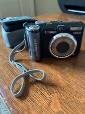 Canon PowerShot A640 10.0MP Digital Camera - Black, with Case and Card