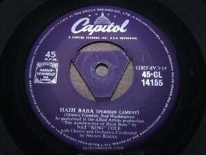 NAT KING COLE ~ Hajji Baba ~ NR MINT ~ 1954 UK CAPITOL CL 14155 ~ Dreamy Exotic