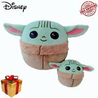 "5""/10"" Squishmallows Plush Stuffed Toy Baby Yoda The Child Pillow Gift NEW STOCK"