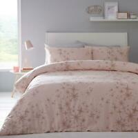 Pink Duvet Covers Rose Gold Sparkly Glitter Stars Quilt Cover Bedding Sets
