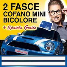 FASCE STRISCE ADESIVI COFANO MINI COOPER BONNET STICKERS 2 COLORI + SPATOLA
