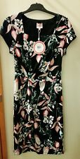 NEW Leona Edmiston Square neck big floral dress, size 8 RRP $129.95