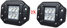 "3"" CREE LED POD LIGHT LAMP  OFFROAD BUMPER RAPTOR TRUCK 4WD ATV FLUSH MOUNT PAIR"