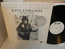 DAVE EDMUNDS AND ROCKPILE NICK LOWE College Radio Network White Label Promo LP