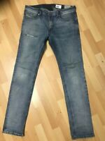 Mens Diesel THAVAR STRETCH DENIM 0854Y FADED Blue Slim W33 L32 H6 RRP£150