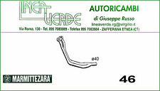 TUBO GAS DI DE ESCAPE DELANTERO ZARA PARA 4330260 FIAT 128 COUPE' 1,1 - 1,3
