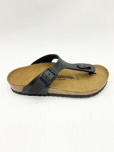 Birkenstock Gizeh Kids BS Black Birko-Flor Slide Sandals US 12-12.5 Regular Fit