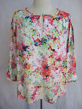 Catherine Malandrino Size S Designer Polyester Floral Blouse