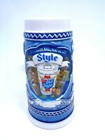 VINTAGE 1982 HEILEMAN BREWERY OLD STYLE BEER STEIN CHICAGOLAND YOU'VE GOT STYLE