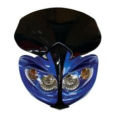 MOTORCYCLE DEMON FAIRING UNIVERSAL HEADLIGHT WITH INDICATORS STREETFIGHTER BLUE