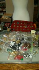 Flat Rate Box- lbs. Sterling Charm Nice Costume Jewelry Lot. Vintage- Now. Small