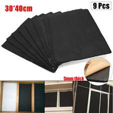 9Pcs Auto Car Sound Deadener Heat Material Insulation Self Adhesive Foam Sheet