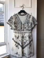 Zara Cream Ercu Lace High Neck Dress Limited Edition M NEW