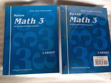 SAXON MATH 3 HOMESCHOOL STUDENT WORKBOOKS & FACT CARDS + Meeting Book Set NEW!