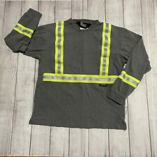 Oil & Gas Safety Supply - Fire Zero Shirt Gray Reflective Tape Flame Resistant L