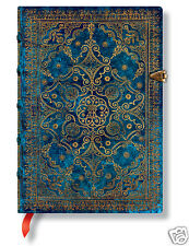 Paperblanks Blank Lined Writing Journal Azure Gold Teal Green Midi Size 5X7 NWT
