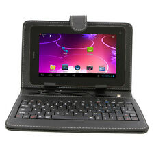 """7"""" Unlocked Bluetooth Phone Tablet GSM Android 4.4 Bundled Keyboard Case"""