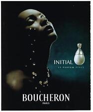 PUBLICITE ADVERTISING  2000  BOUCHERON  INITIAL  collection parfums  femme PERLE