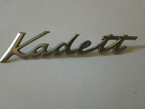 Vintage Opel Kadett Metal Emblem Ornament nameplate trim badge  logo