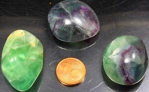 1 Regenbogenfluorit Trommelstein Taschenstein Handschmeichler Fluorit