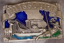 Pewter Belt Buckle State of Missouri colored NEW