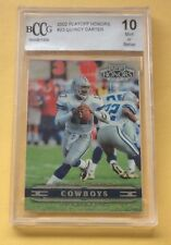 2002 Playoff Football Trading Card #23 Quincy Carter BCCG 10