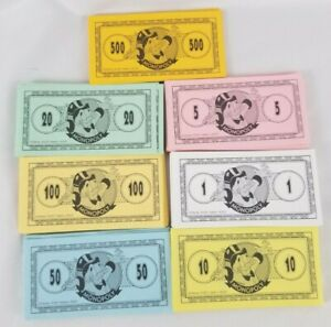 2001 Monopoly DISNEY Edition Game Replacement Pieces - Money