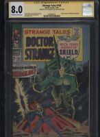 Strange Tales #162 CGC 8.0 SS Jim Steranko 1967 Captain America appearance