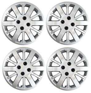 """NEW 2007-2010 PONTIAC G5 15"""" Bolt-On Hubcap Wheelcover SET SILVER"""