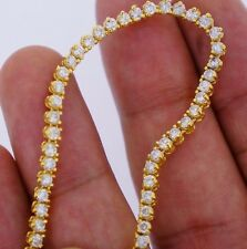 13 Carat White Diamonds Tennis Necklace Chain 26 inch 10k YG ASAAR Deal!!
