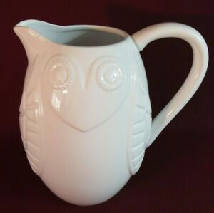 """LARGE WHITE """"HAPPY CHIC""""  OWL PITCHER BY JONATHAN ADLER"""