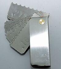 Garage door spring measure tool Residential Pocket Wire Gauge .187 -.312