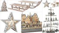 Christmas Decorations Lamp Display Illuminated Xmas Star Tree Wooden Sledge