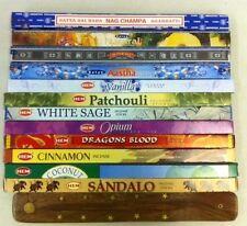 Hem Satya Nag Champa Incense Sampler 12 Boxes Approx 120 stick + BURNER!
