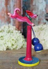 #4 Dog Balancing Toy Kinetic Handmade Clay Mexican Folk Art Ortega Barro Betus