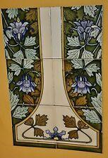 Kacheln, Jugendstil Original Ornament mit 6 Kacheln
