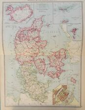 Map of Denmark. 1905. George Philip & Son. EUROPE. COPENHAGEN