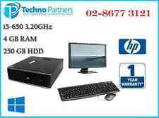 """Computer Package HP Elite 8100 i5-650 4G 250GB Win10 + 22"""" LCD Monitor Warranty"""