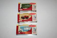 3x Lledo Days Gone Trackside vehicles Foden BR Ballast box, 2 x Guy Pantechnicon