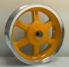 "1 NEW Rear Aluminum Scooter Wheel 12x3.5 12"" Yellow w Polished Lip Vento CPI Rim"