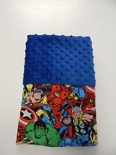 Blanket Moses Basket Bassinet Crib Capsule Baby - Marvel Avengers - Blue Minkee